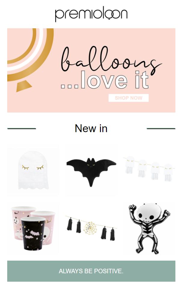 Beispiel Halloween Newsletter Onlineshop Premioloon