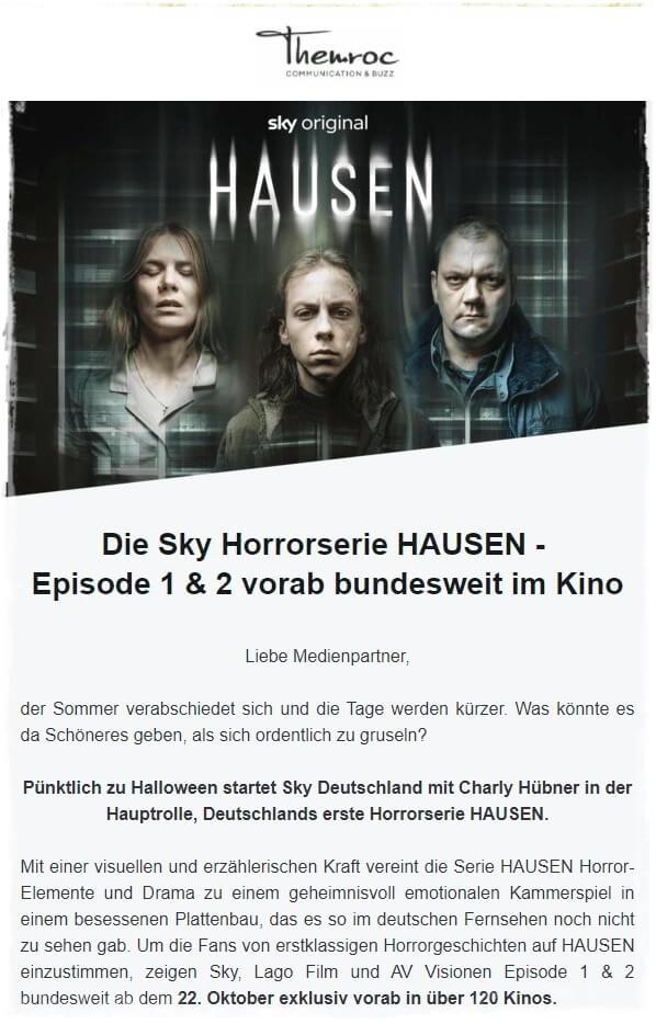 Halloween Newsletter Beispiel Kino