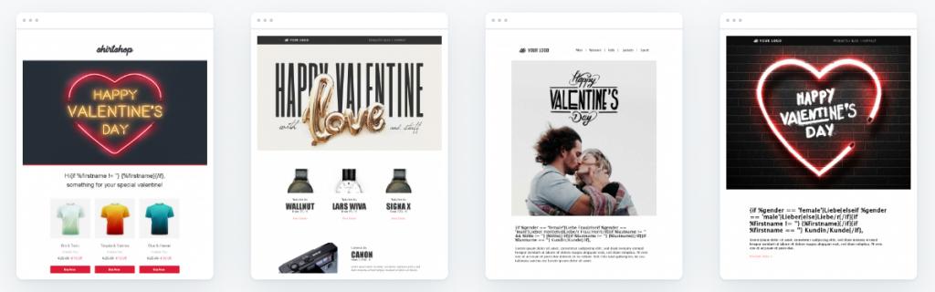 Newsletter-Vorlagen für Valentinstag