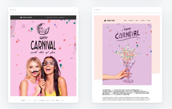 Newsletter-Vorlagen für Karneval