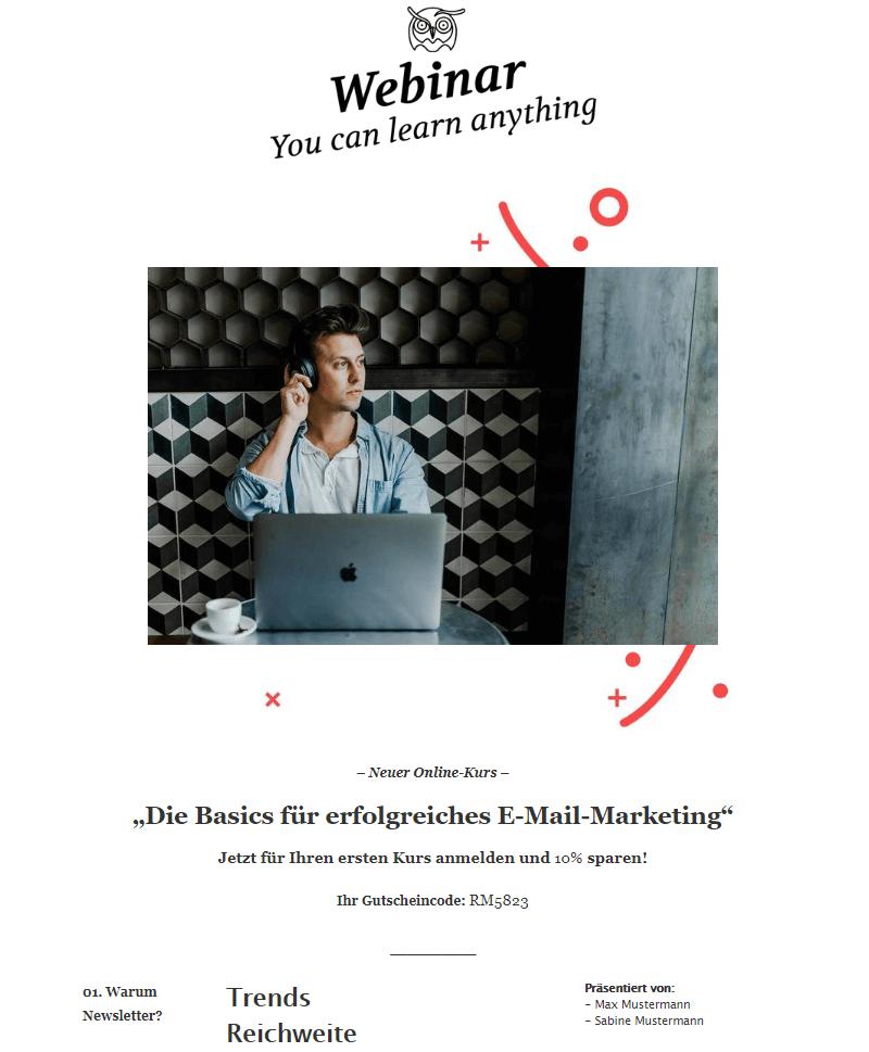 Personalisierter Gutscheindcode im Newsletter