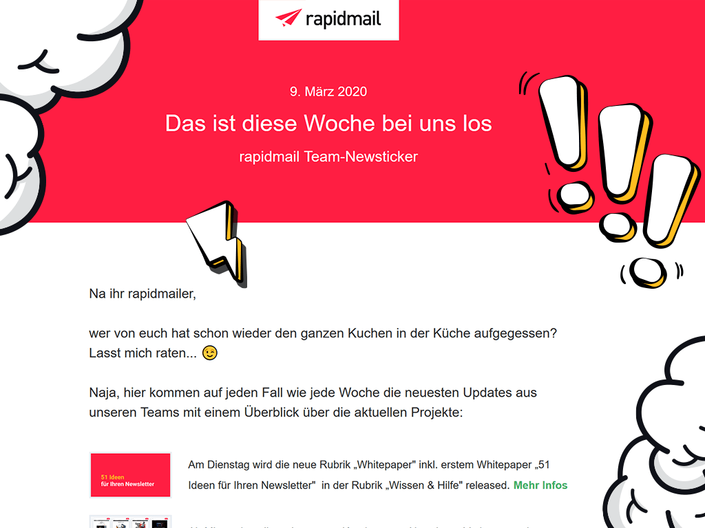 Interner Newsletter rapidmail