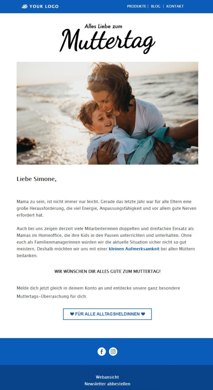 Kostenlose Newsletter-Vorlage Muttertag