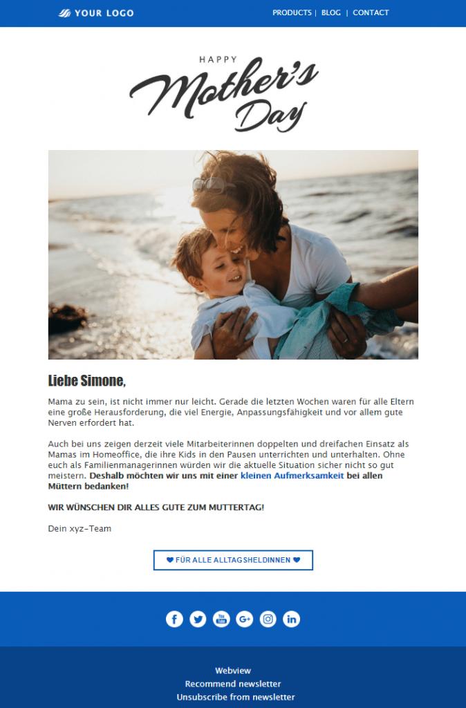 Muttertags-Newsletter erstellen