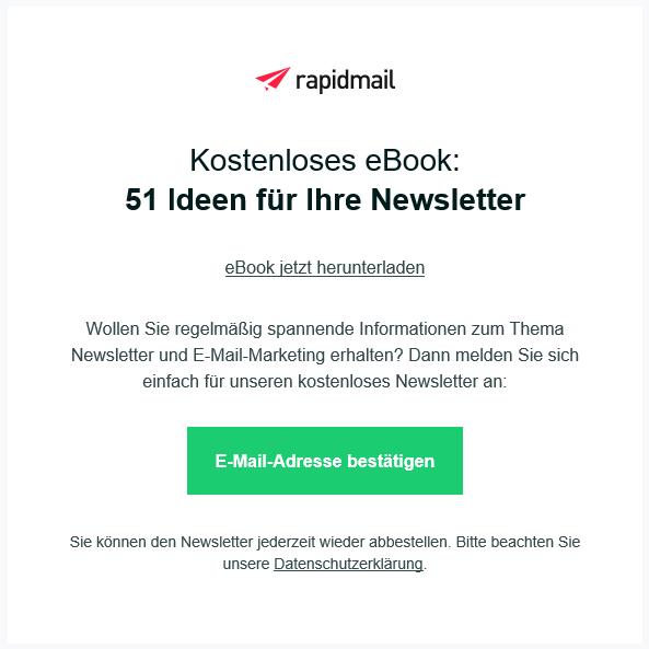 Newsletter Empfänger über Whitepaper gewinnen