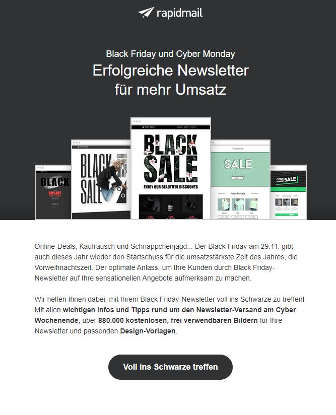 Newsletter-Vorlagen Black Friday