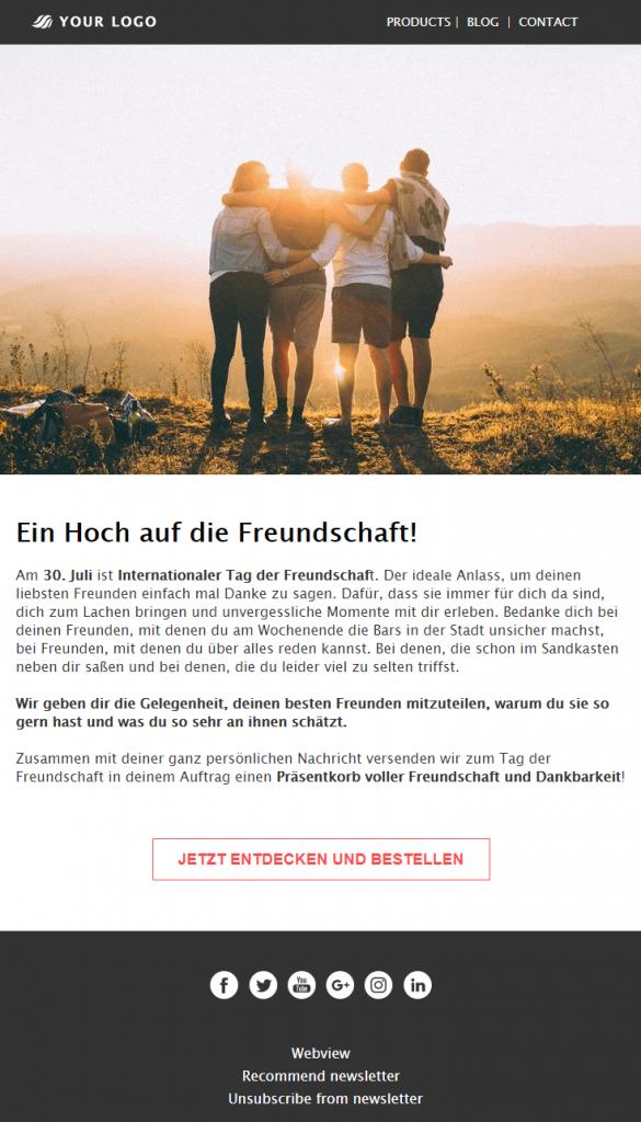 Sommer-Newsletter Freundschaft