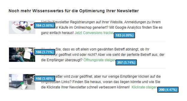 Klickverhalten der Abonnenten analysieren
