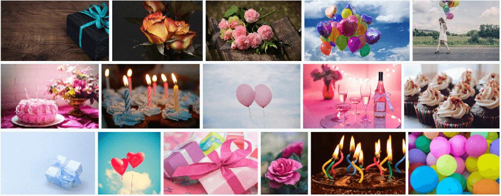 Kostenlose Bilder für die Geburtstags Email an Kunden