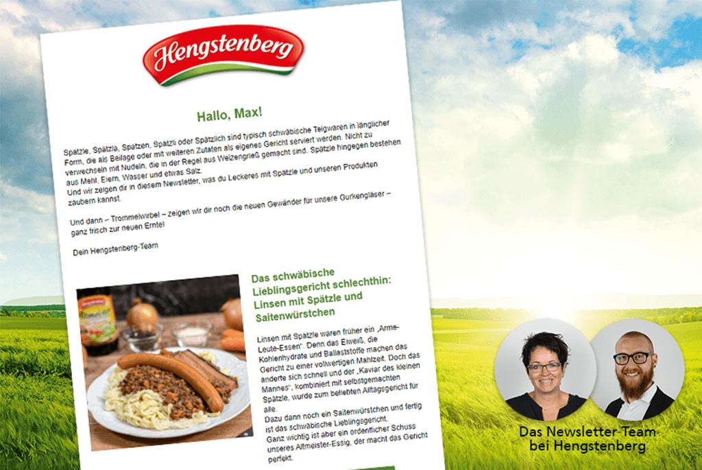 Newsletterplanung-Interview mit Hengstenberg