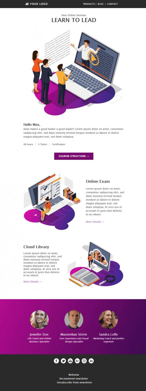 Beliebteste Newsletter-Templates Webinar