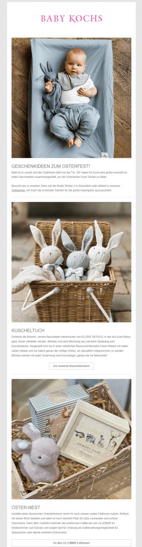 Kundenbeispiel Osternewsletter_Baby Kochs