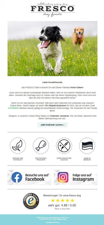 Newsletter Beispiel Ostern_ Fresco