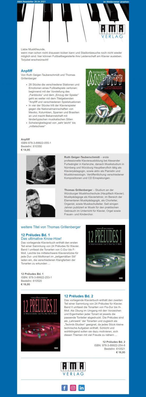 EM-Newsletter-Beispiel AMA-Verlag