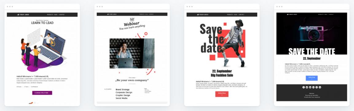 Kostenlose Templates für Webinar-Einladungen