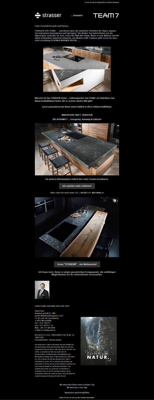 Gelungenes Newsletter-Beispiel Jacobs Möbelhandelsagentur