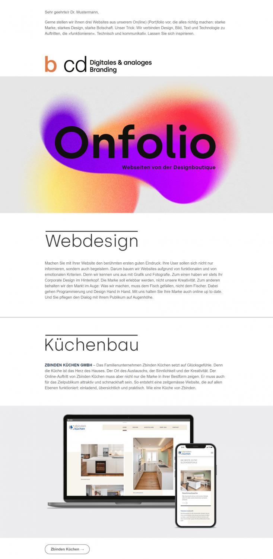 Gelungenes Newsletter Beispiel Digital & Analoges Branding