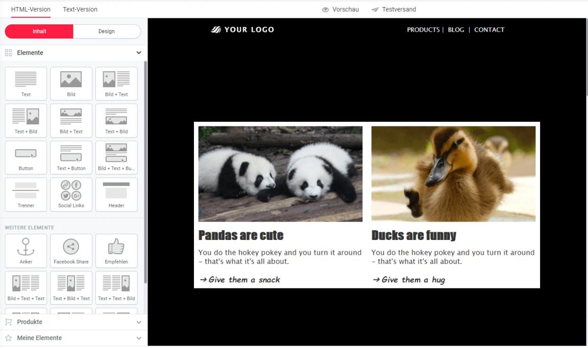 Bilder im Newsletter auf gleiche Höhe bringen-Ergebnis