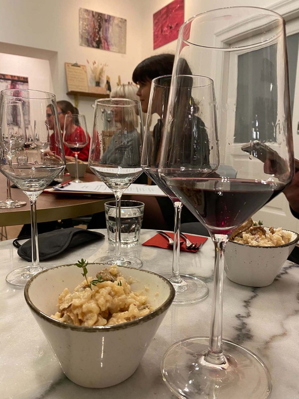 Weinprobe Risotto