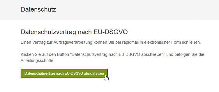 Datenschutzvertrag nach EU-DSGVO