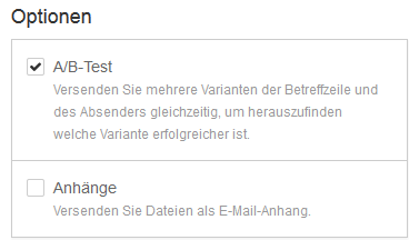 AB-Test Mailing