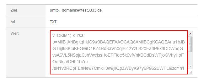DKIM-Schlüssen für Transaktionsmails einrichten