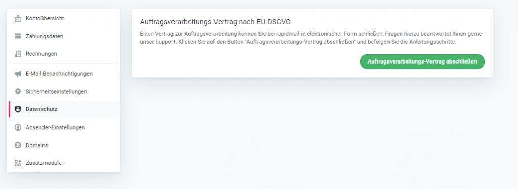 DSGVO Vertrag