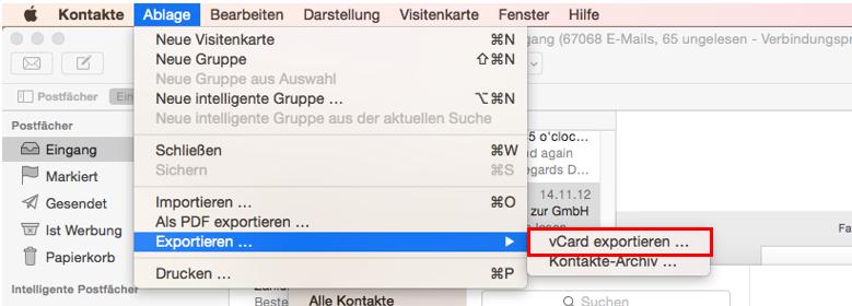 Empfänger aus Apple Mail