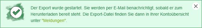 Empfänger exportieren - Empfänger Download