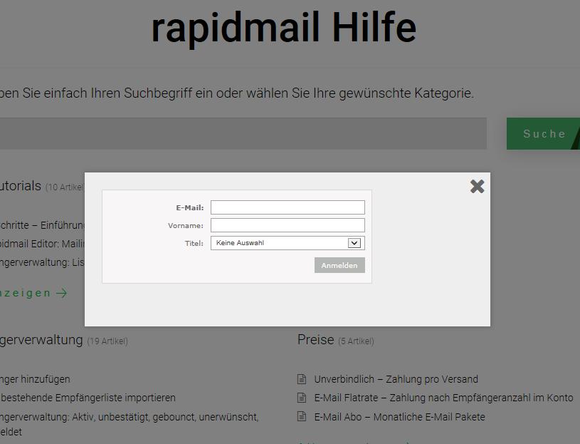 Wordpress Popup Newsletter Anmeldung 6