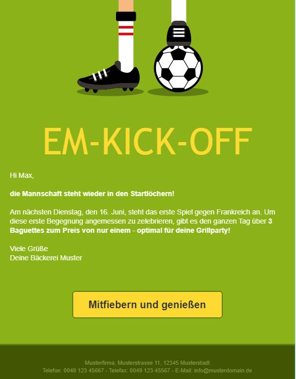 Newsletter Fußball EM