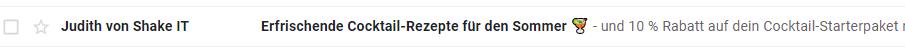 Beispiel Emoji im Email-Betreff