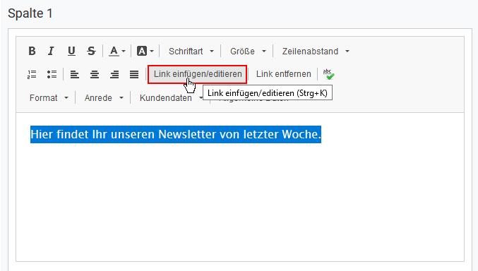 Im Newsletter auf einen anderen rapidmail-Newsletter verlinken
