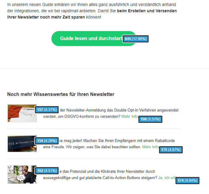 Klickmap Newsletter Analyse