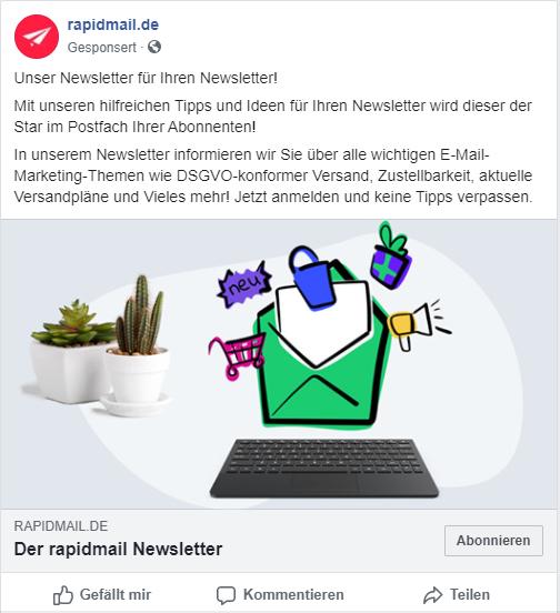 Facebook Lead-Ads für mehr Newsletter-Abonnenten