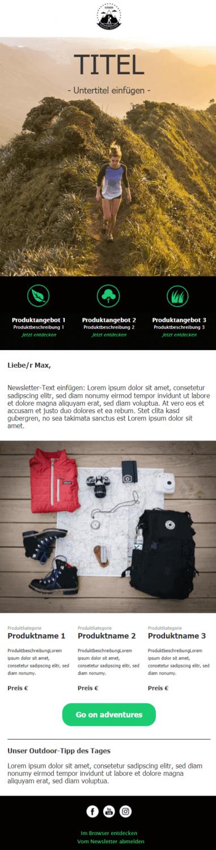 Beispiel für Corporate Design Newsletter Vorlage