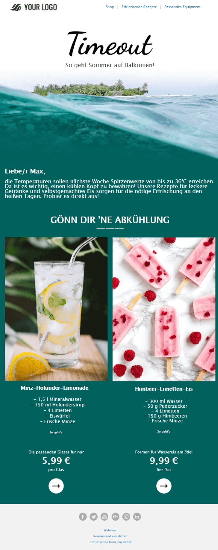 Sommer-Newsletter Rezepte