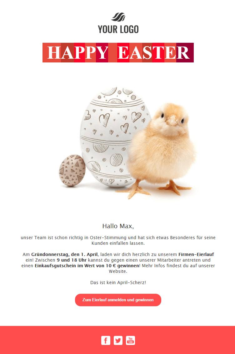 Template für Oster-Newsletter