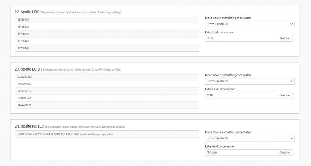 Empfängerdaten mit rapidmail in Extra-Feldern speichern