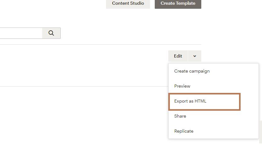 Mailchimp Newsletter als HTML exportieren